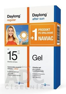 Daylong regular SPF 15 + After sun Gel NAVÍC locio 200 ml + gel 200 ml, 1x1 set