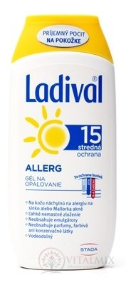 Ladival Allergy SPF 15 gel na opalování 1x200 ml
