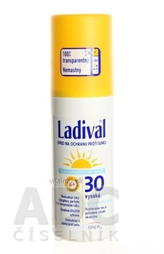 LADIVAL Transparent Spray 30LF transparentní sprej na ochranu proti slunci 1x150 ml