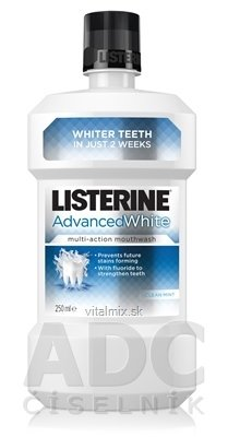 LISTERINE ADVANCED WHITE ústní voda 1x250 ml