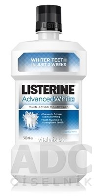 LISTERINE ADVANCED WHITE ústní voda 1x500 ml