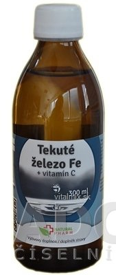 NATURAL PHARM Tekuté železo Fe + Vitamín C 1x300 ml