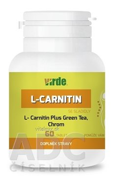 Virde L-CARNITIN Plus Green Tea, Chrom tbl 1x60 ks